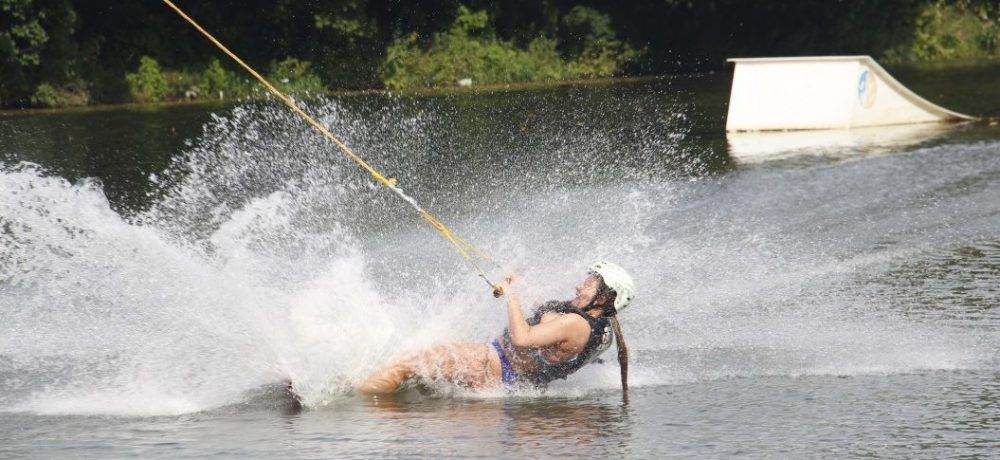 Cable Wakeboarding cadere cascare incidente